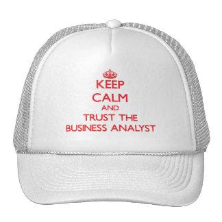 Guarde la calma y confíe en al analista del negoci gorras de camionero