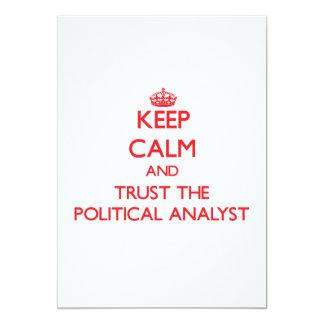 Guarde la calma y confíe en al analista político comunicado
