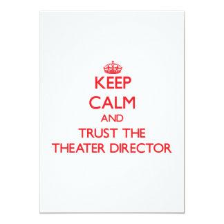 Guarde la calma y confíe en al director del teatro comunicado