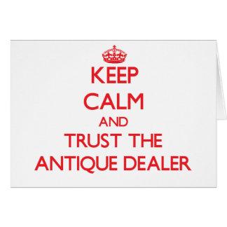 Guarde la calma y confíe en al distribuidor autori tarjeton