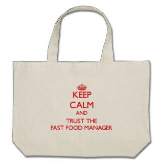 Guarde la calma y confíe en al encargado de los al bolsas de mano