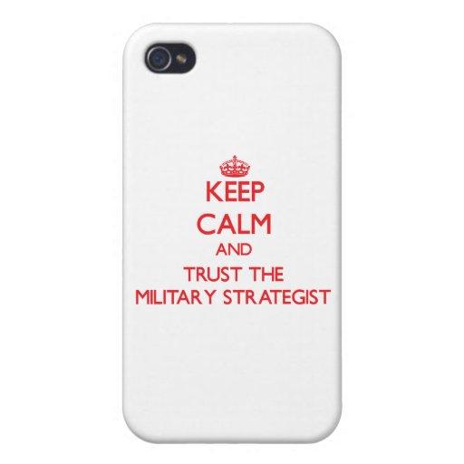 Guarde la calma y confíe en al estratega militar iPhone 4 carcasas