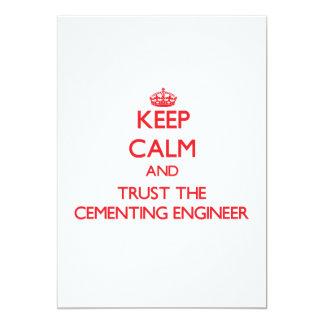 Guarde la calma y confíe en al ingeniero de invitación 12,7 x 17,8 cm