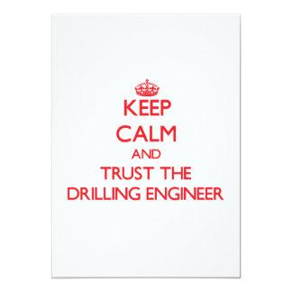 Guarde la calma y confíe en al ingeniero de la invitación 12,7 x 17,8 cm