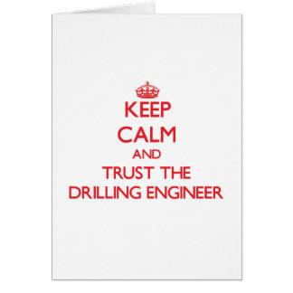 Guarde la calma y confíe en al ingeniero de la per tarjeta de felicitación
