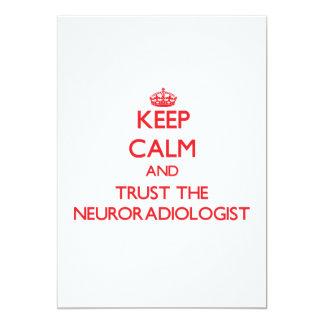 Guarde la calma y confíe en al neuroradiólogo anuncio