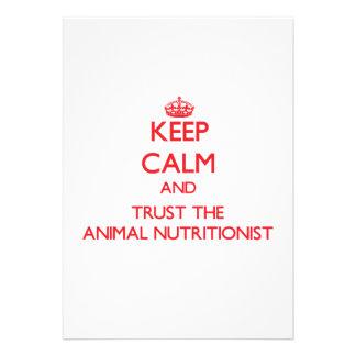 Guarde la calma y confíe en al nutricionista anima anuncio