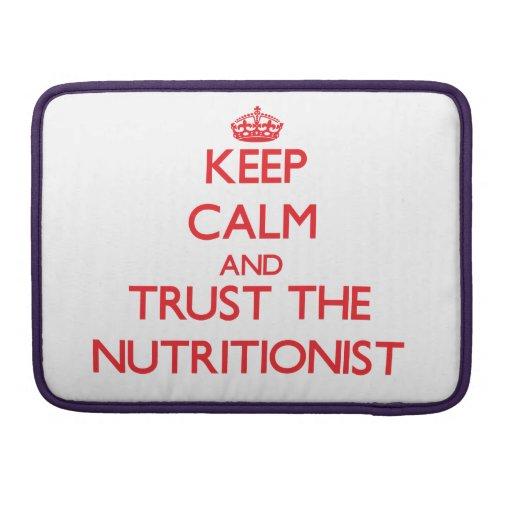 Guarde la calma y confíe en al nutricionista fundas macbook pro
