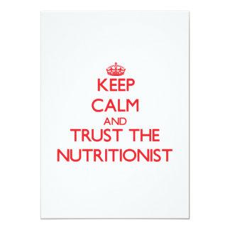 Guarde la calma y confíe en al nutricionista comunicado personal