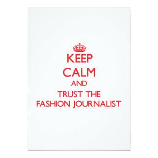 Guarde la calma y confíe en al periodista de la comunicado personalizado