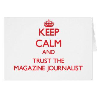 Guarde la calma y confíe en al periodista de la re tarjetón