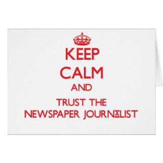 Guarde la calma y confíe en al periodista del peri tarjeton
