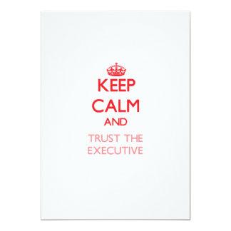 Guarde la calma y confíe en el ejecutivo anuncios