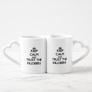 Guarde la calma y confíe en los tipos de tero nort tazas amorosas