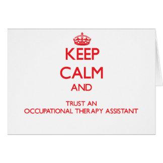 Guarde la calma y confíe en un Assista anrapy prof Felicitacion