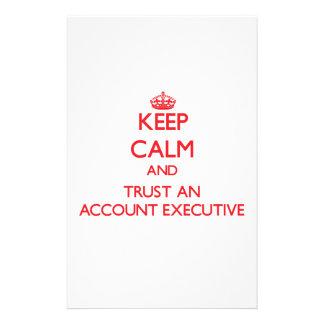Guarde la calma y confíe en un ejecutivo de cuenta papeleria personalizada