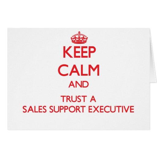 Guarde la calma y confíe en un ejecutivo de la ayu tarjetas