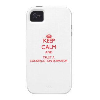 Guarde la calma y confíe en un perito de la constr Case-Mate iPhone 4 carcasa