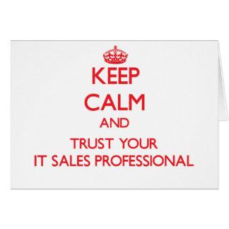 Guarde la calma y confíela en su las ventas profes felicitacion