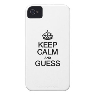GUARDE LA CALMA Y CONJETURE Case-Mate iPhone 4 COBERTURAS