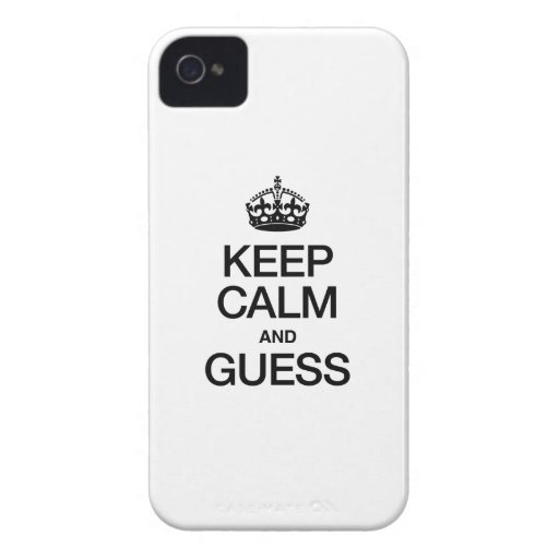 GUARDE LA CALMA Y CONJETURE Case-Mate iPhone 4 CÁRCASA