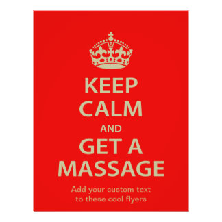 Guarde la calma y consiga un masaje tarjeta publicitaria