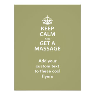 Guarde la calma y consiga un masaje folleto 21,6 x 28 cm