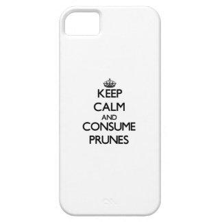 Guarde la calma y consuma las pasas iPhone 5 Case-Mate funda