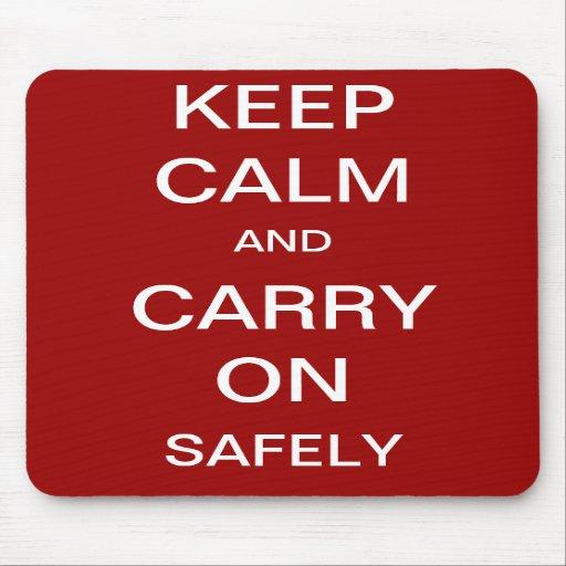 Guarde la calma y continúe con seguridad - salud y alfombrillas de ratón