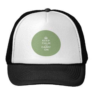 Guarde la calma y continúe con un Eco BG verde Gorros