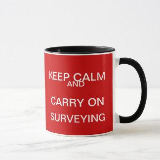 Guarde la calma y continúe el examinar - regalo taza