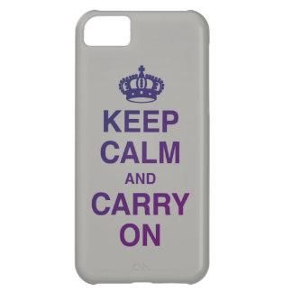 GUARDE la CALMA Y CONTINÚE el gris Carcasa Para iPhone 5C