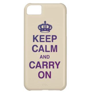 GUARDE LA CALMA Y CONTINÚE el moreno Carcasa iPhone 5C