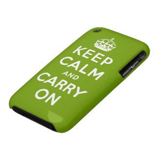 guarde la calma y continúe la original Case-Mate iPhone 3 carcasa