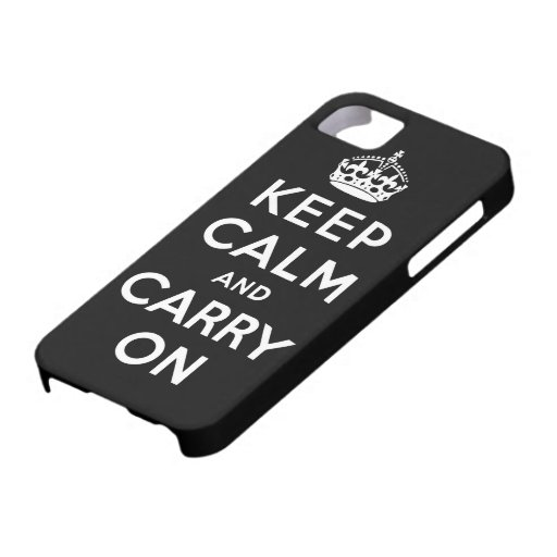guarde la calma y continúe la original iPhone 5 Case-Mate cobertura