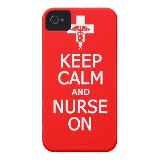 Guarde la calma y cuide en casamata del iPhone 4 Funda Para iPhone 4 De Case-Mate