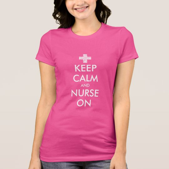 Guarde la calma y cuide en la camiseta para las