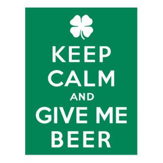 Guarde la calma y déme la cerveza postal