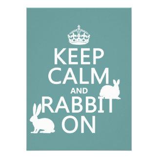 Guarde la calma y el conejo encendido - todos los comunicados personales