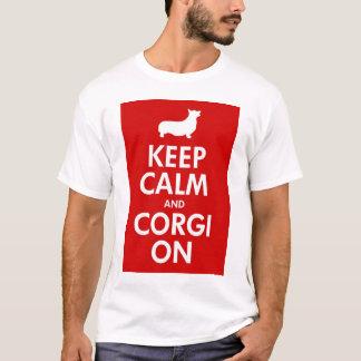 Guarde la calma y el Corgi en la camisa