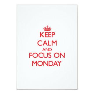 Guarde la calma y el foco el lunes invitacion personalizada