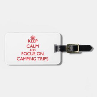 Guarde la calma y el foco en acampadas etiqueta para equipaje