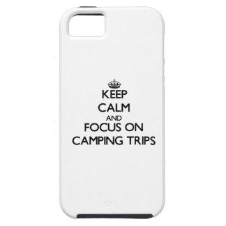Guarde la calma y el foco en acampadas iPhone 5 Case-Mate protectores
