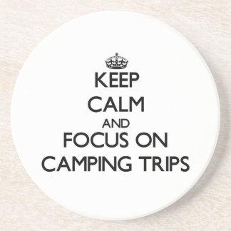 Guarde la calma y el foco en acampadas posavasos cerveza