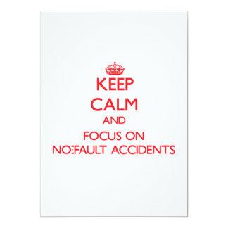 Guarde la calma y el foco en accidentes sin faltas invitación 12,7 x 17,8 cm