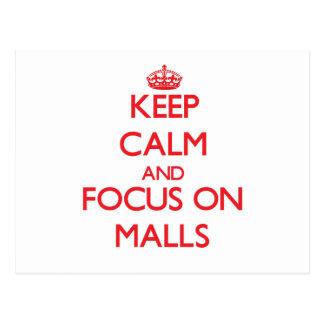 Guarde la calma y el foco en alamedas tarjetas postales