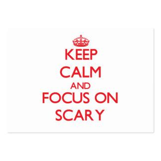 Guarde la calma y el foco en asustadizo