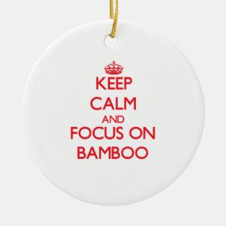 Guarde la calma y el foco en bambú