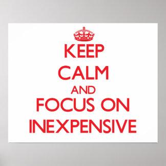 Guarde la calma y el foco en barato impresiones