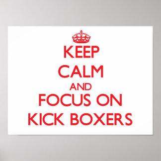 Guarde la calma y el foco en boxeadores del impresiones